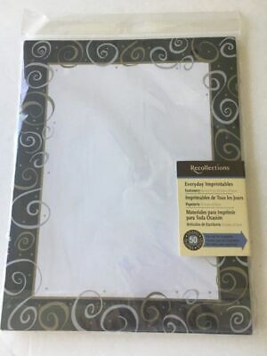 NIP 50 sheets Recollecions decorative printer paper stationary party 8 1/2 x
