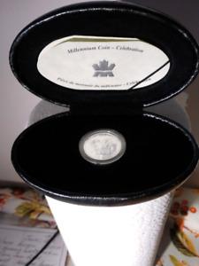 Piece de 25 cent en argent année 2000