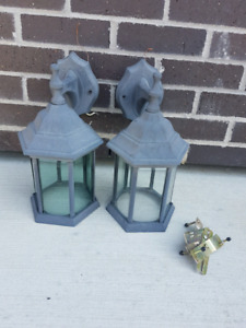 Two outdoor lights