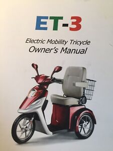 Sporty Mobility Scooter / Tricycle (NEW) Never used