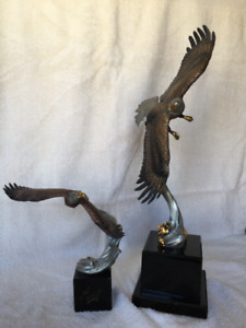 CA Pardell Eagle Sculptures, Reaching Higher and High Spirts