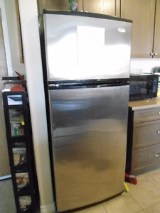 fridge/freezer and 30 inch range and stackable washer/dryer
