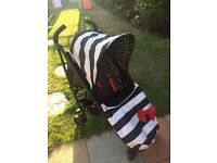 Cosatto Yo! Stroller Buggy Black & White Stripes