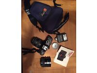 Pentax P30 35mm SLR camera with accessories