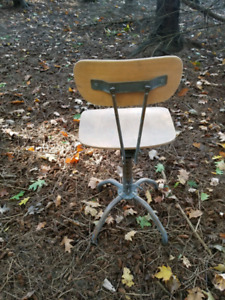 Old Vintage Industrial Factory chair