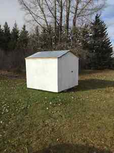 8x8 Garden shed with metal roof