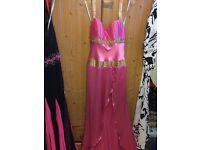 Hot pink designer dress