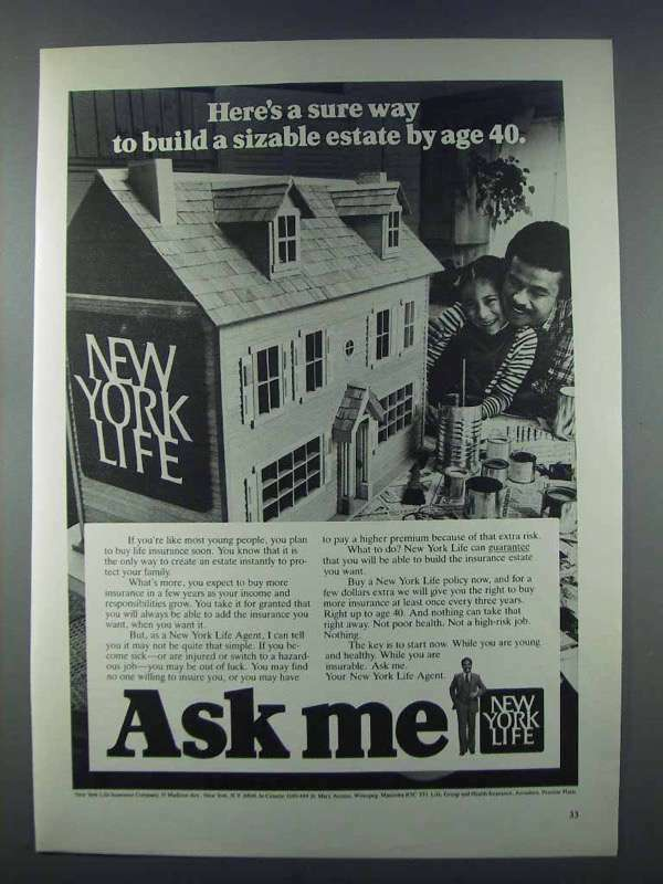 1981 New York Life Ad - Build a Sizable Estate