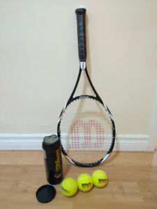 Barely used racquet and balls!