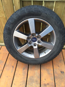 NEWER FORD ALUMINUM TIRE AND RIM 275/55R20