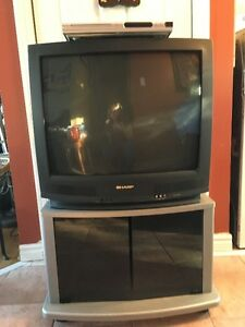 TV, STAND AND DVD