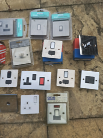 Sockets, switches all brand new