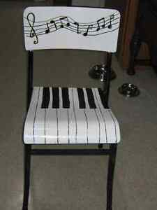 MUSICAL CHAIR   (stacking chair. )