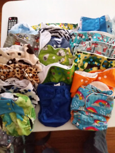 Cloth Diaper Lot 40++ Diapers and Inserts New & Used