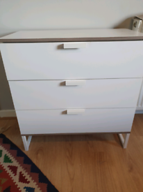 IKEA 3 drawers white colour