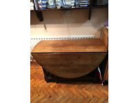 Late 17th or early 18th century English oak gate legged table