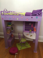 Retired Mc'kenna' loft bed and American doll julie