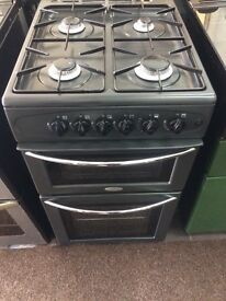 Black belling 50cm gas cooker grill & oven good condition with guarantee