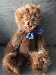 Real fur teddy bear