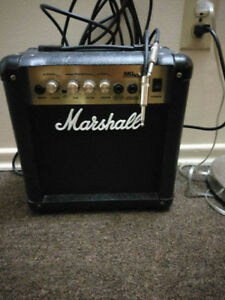 Mint Marshall Practice Amp With Patch Cord!