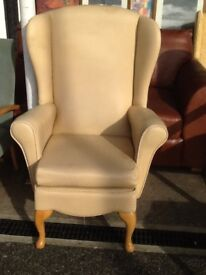 Cream wing back Shackleton arm chair