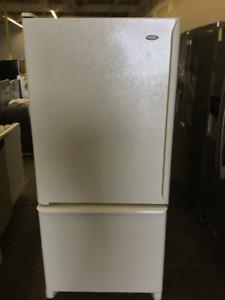 Amana White Fridge and Freezer
