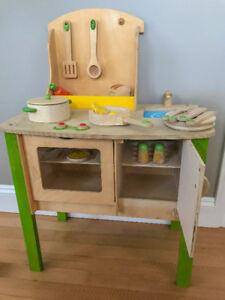 Wooden Play Kitchen - complete set with accessories
