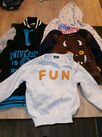 boys clothes 5 x bundle of boys jumpers age 3 - 4 years