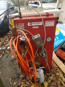 Oil fired Boiler and tank