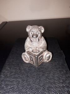 Reed And Barton Pewter Teddy Bear Music Box
