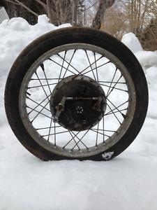 """1969 suzuki X6 Hustler front wheel Vintage 2.75-18"""""""