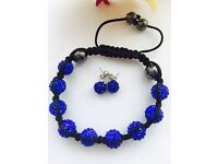 Stunning Shamballa Bracelet and Earrings Set