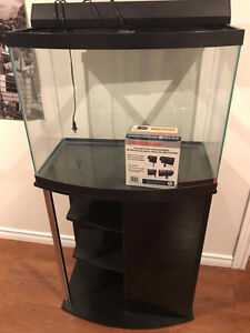 20 gallon Bowfront Aquarium with Stand