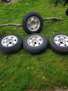 20inch studded winter tires with 15inch rims