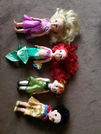 2 x disney princess animator dolls snow white & rapunzel