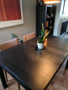 Black Ikea Wooden Dining Table