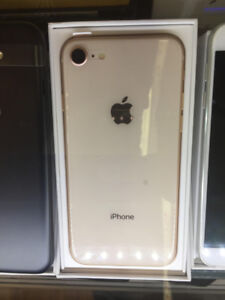 IPhone 8, 64 GB, Unlocked, Black Or Gold, 5 AV