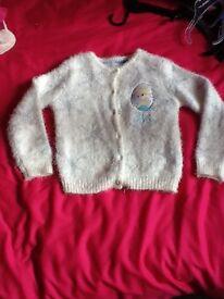 Girls m&s frozen cardigan age 4/5 years