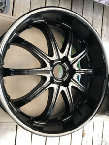 "Set of 4 20"" Black MSR Rims(No Tires)"