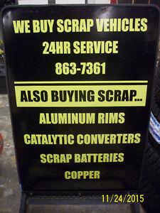 OPEN 24/7 Buying Scrap cars.FREE SCRAP METAL PICK UP