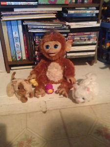 Fur real monkey and 2 fur real kittens Kingston Kingston Area image 1