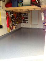 Epoxy garage basement porch shed and workshop floors