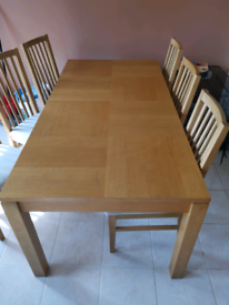 6 table and chairs for sale