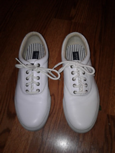 Sperry Top Sider White Leather Shoes -  Men's Size Ten