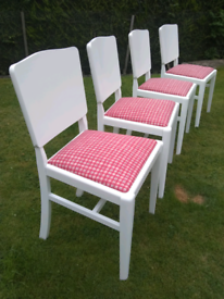 4 newly painted dining chairs