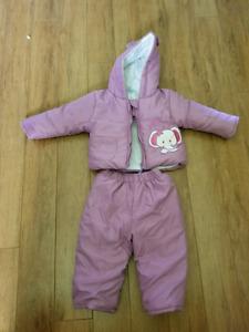 New Carter's baby girl winter suit
