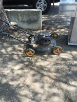 Free lawn mower and bbq