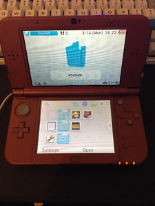 Red New 3DS XL modded