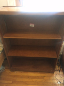 Solid wood shelving unit