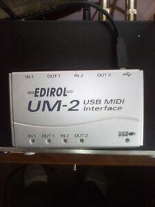 Edirol UM2 USB midi interface
